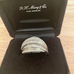 Macy's fine jewelry ring . Real diamond chips